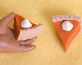 2 pie slices doll food for American Girl dolls