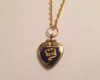 Vintage European Heart Locket Necklace