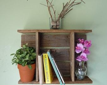 Wall Cubby Reclaimed Wood, Rustic Display Shelf, Rustic Shadow Box