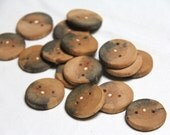 """4 medium weathered ash buttons - 1.5"""""""