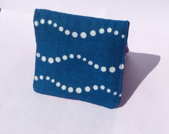 Pink & Blue Square Business Card Case