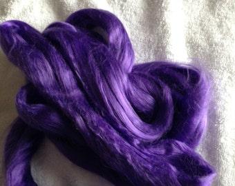 Bamboo Purple Top 1 oz Spinning Fiber Dyed Luxury Fiber