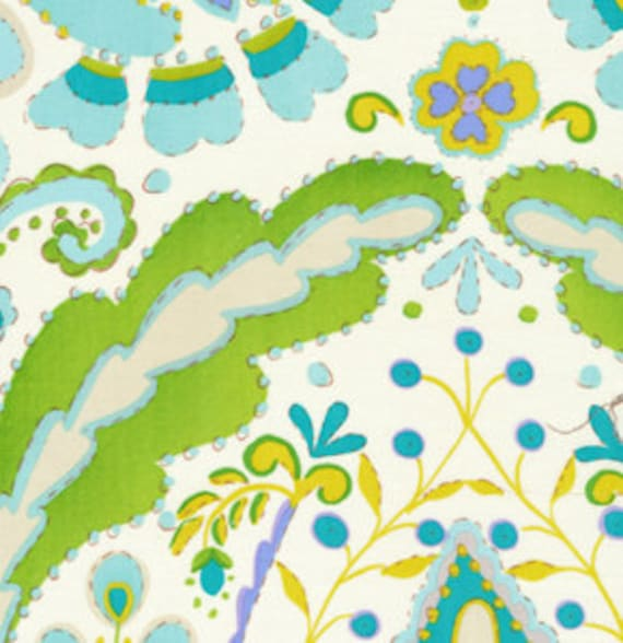 Dena designs kumari garden lalit in blue 1 yard for Kumari garden fabric by dena designs