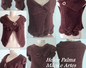 Reversible Bolero/Vest - knitting handmade