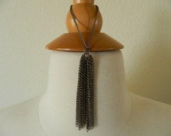Silver Chain Tassel Bracelet