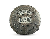 Detroit Sewer Printed Pillow