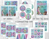 Mermaid Party Decorations, Printable Party By Cutie Putti Paperie