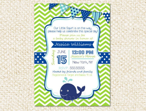 whale baby shower invitations diy printable baby boy baby, Baby shower invitations