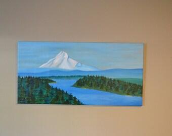 Columbia River Gorge Mt Hood Original Painting Portland Oregon