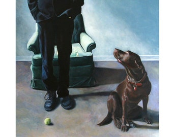 The Ball, Large Archival Giclee Print of Original Oil Painting