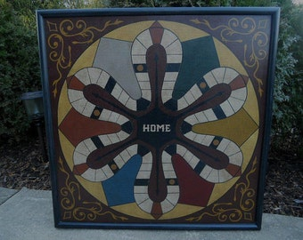 "19"", Parcheesi, Game Board, Wooden, Folk Art, Primitive, Game Boards, Wood, Board Game"