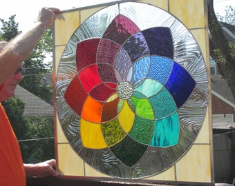 Magnificent and Super Cheery Color Wheel  Window Very Large