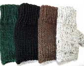 Fingerless Gloves Women Men Texting Mittens Choose Color Knit Hand Warmers Hand Knitted Winter Accessories