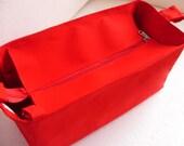 Purse organizer for Louis Vuitton Neverfull GM with Zipper closure- Bag organizer insert in Rich Red