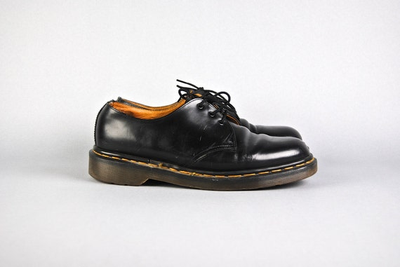 s vintage shoes 1990 s black leather 3 by