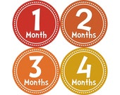Monthly Stickers, Photo Props, Monthly Baby Stickers, Monthly Baby Photos, Baby Gift, Milestone Stickers, Rainbow (N002)