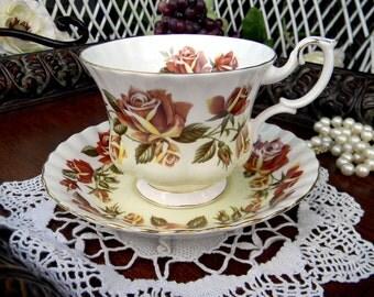 Royal Albert Tea Cup and Saucer - Lakeside Series, Thirlmere - Vintage Teacup Set 10971