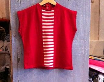 1950 Raspberry Sleeveless Sweater