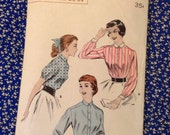 5 BUCKS Butterick 7164 Man Tailored Shirt 1950s Sewing Pattern Bust 30""