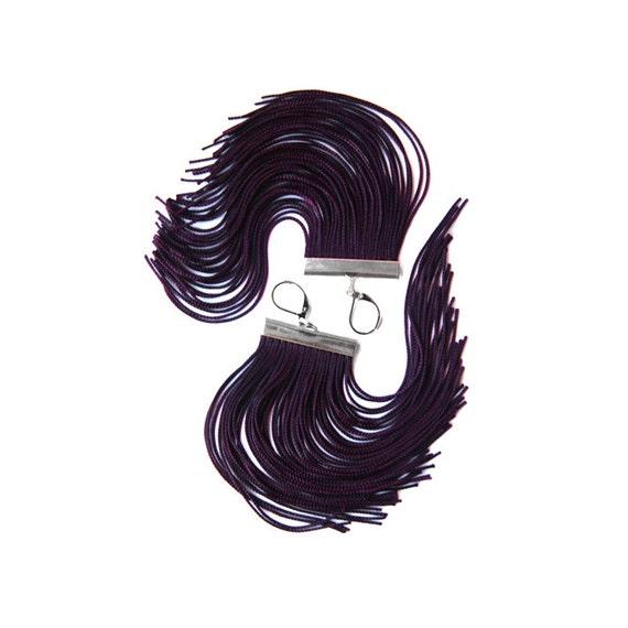 Deep Purple Short Fringe Earrings