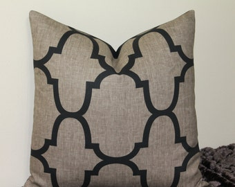 "Windsor Smith for Kravet - Riad Moroccan Tile in Smoke - 18"",20"" or 22"" Decorative Designer Pillow Cover"