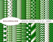 St. Patrick's Day Digital Paper Pack, Sc