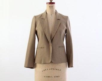 1980s linen blazer, vintage women's khaki jacket