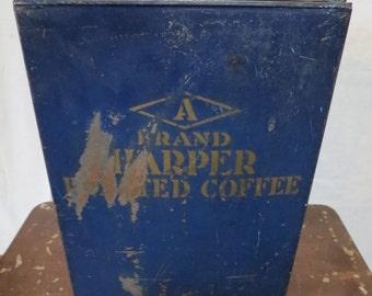 Vintage Metal Storage Bin.