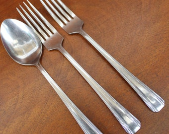 Flatware by GRANTCREST  in  pattern (3 pieces) Silverware Vintage Stainless BIN 11