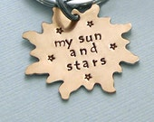 Khal Key Ring - My Sun and Stars - Hand Stamped Brass Game of Thrones Keychain  - Accessories
