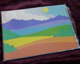 Current Rainbow Landscape Cards