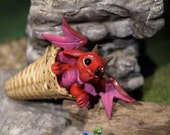 RESERVERD for HEIKE KORTKAMP, Miniature 1:12 dragon in a basket