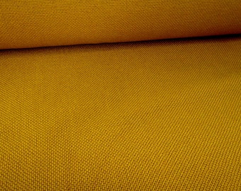 A Piece of Vintage Sienna Yellow Ochre Yellow Upholstery Fabric Burlap for Rustic Home Decor Country Decor Cottage Decor 132