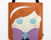 Anna, Frozen, tote bag, bag,
