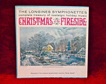 CHRISTMAS...The LONGINES SYMPONETTE'S - Christmas at the Fireside - Vintage Vinyl 4 lp Boxed Record Set