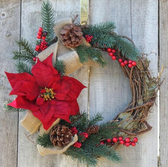 Holiday wreath christmas wreath winter wreath front door for Front door xmas wreaths