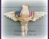Primitive American Eagle, Primitive Americana, Prim eagle, folk art eagle, July 4th, primitive patriotic