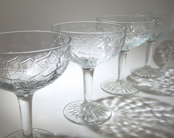 6 Vintage Champagne or Cocktail Coupes