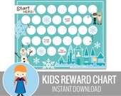 Kids Reward Chart  - Snow Princess Printable - Behavior Chart - Routine Chart