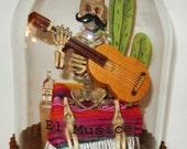 """SOLD - Dia De Los Muertos """"El Musico"""" The Musician cloche"""