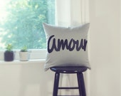 20x20 inches / 50x50 cm, Personalized Word Pillow - Letters, Symbol, Text Pillow Cover - Decorative Pillow, Modern Typography Pillow Case