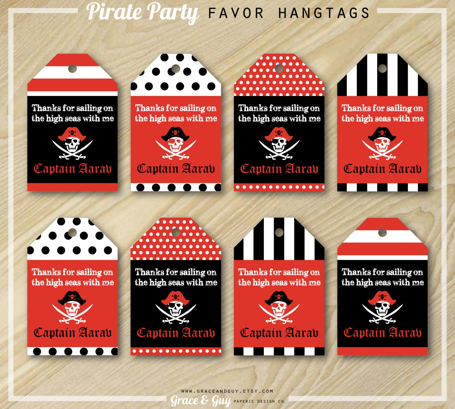 Versatile image intended for printable party favor tags