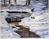 "Winter Woods ""Fallen Silent"" Signed/Numbered Giclee Print... Landscape Art... 14.5""x18"""