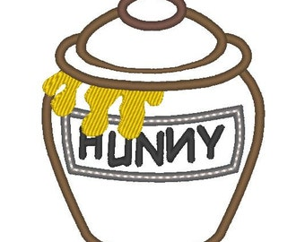 Honey pot winnie the pooh - machine embroidery applique and fill stitch designs -  INSTANT DOWNLOAD