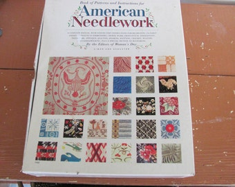 Complete Woman's Day American Needlework Book of Patterns 51 uncut patterns  Quilting Hooking Needlepoint