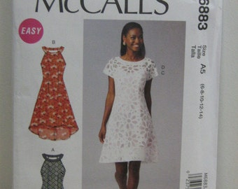 Dress Pattern, Spring/Summer Party Dress, Mc Call's 6883, SZ 6 through 14