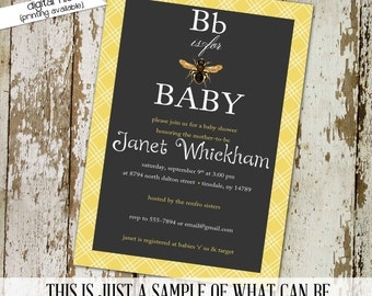 gender reveal party invitation or baby shower invitation, bee, What will it BEE, DIY PRINTABLE (item 1440) baby shower invite
