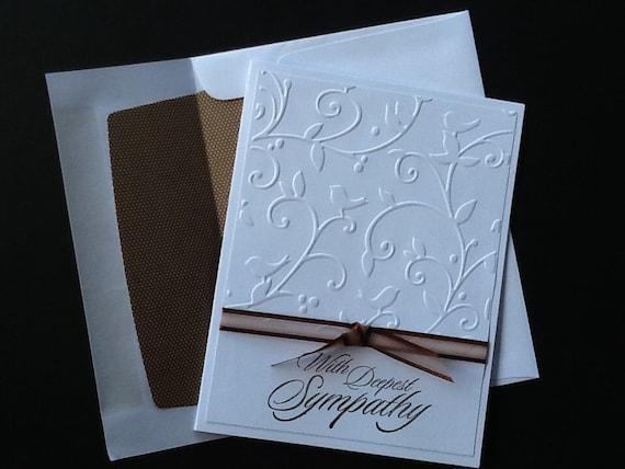 sympathy card handmade