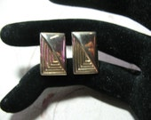 Absolutely Most Elegant for your Man,  Art Deco Cufflinks, Goldtone,  Formal Wedding, For Him, Stocking Stuffer, For Dad