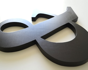 Ampersand Wooden Sign